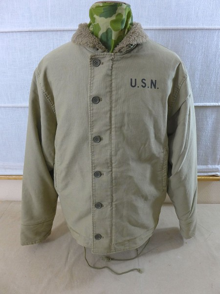 US NAVY WW2 N-1 DECK JACKET (khaki) sailor vintage clothing
