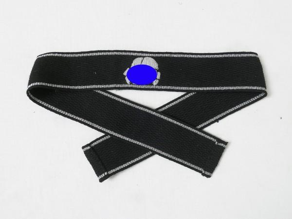 Ärmelband Waffen Elite Totenkopf Division silberfaden gestickt Offizier