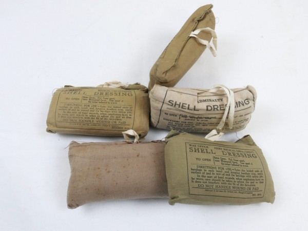 Original British Army Shell Dressing / Army Medical Department / first aid 1943
