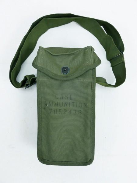 U.S. Army Korea Vietnam Munitions-/ Magazintasche Case Ammunition mit Trageriemen MINT
