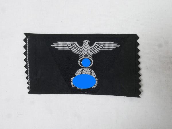 WSS Panzer Trapez Mützenabzeichen gewebt / Elite Totenkopf + Adler