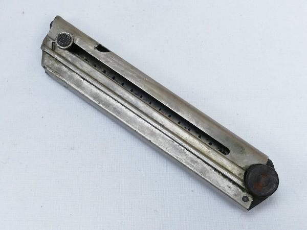 WK1 Original P08 Magazin 9mm Holzboden mit Abnahmestempel Nr. und Hersteller