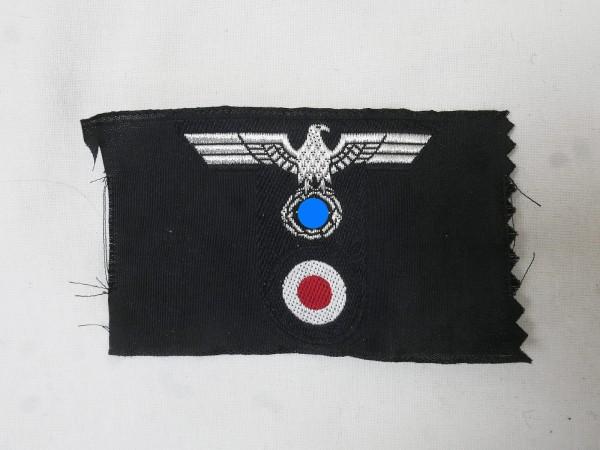 Wehrmacht Panzer T-Mützenabzeichen Offizier Mützenadler T-Form gewebt Feldmütze