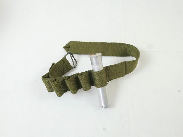 WW2 Luftwaffe Beingurt Signalmunition SigPi / LW Flare cartridge Bandolier Rbnr.