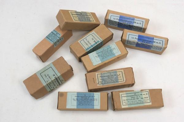 Original Wehrmacht Verpackung Schachtel für 16x Pistolenpatronen m.E. für die Pistole 08 / P08