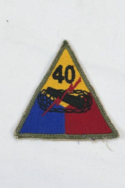 Original WW2 40th Armored Division US Army Ärmelabzeichen