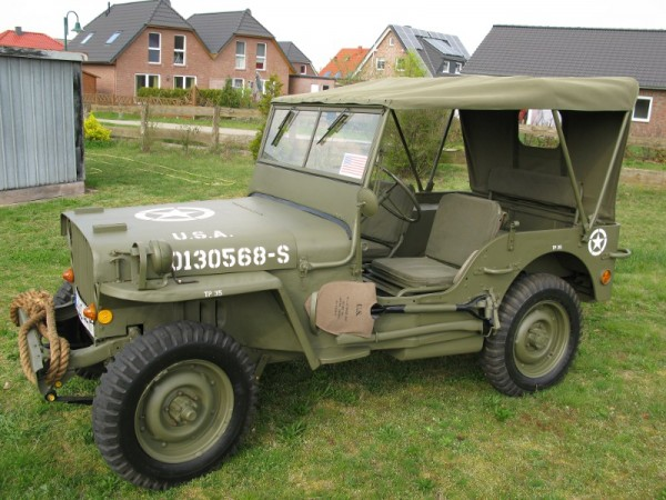 Jeep Verdeck Willys Jeep MB, Ford GPW, Hotchkiss M201 with stencil: caution left hand drive