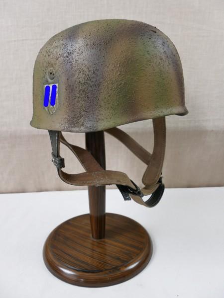 Waffen SS Fallschirmjägerhelm Rauhtarn camouflage Stahlhelm M38 Luftwaffe SD / Kopfgröße Gr. 57/58