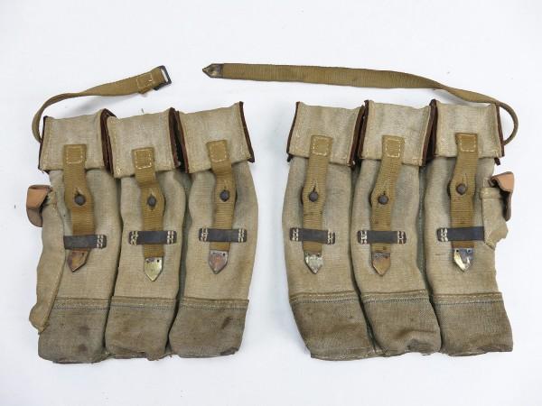 #12 Wehrmacht 2x Magazintasche Paar Sturmgewehr 44 Blauer Faden STGW44 MP44 MKB Spätkrieg