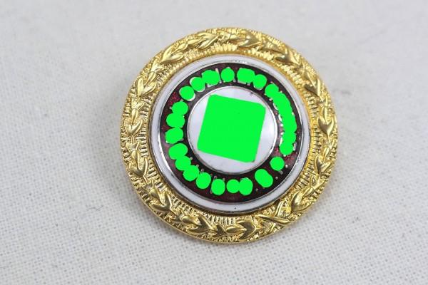 Miniatur Parteiabzeichen in Gold Mitgliedsabzeichen der NS Partei an Nadel
