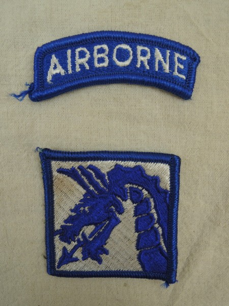 US ARMY Abzeichen DRAGON PATCH XVIII 18th Airborne CORPS SUBDUED