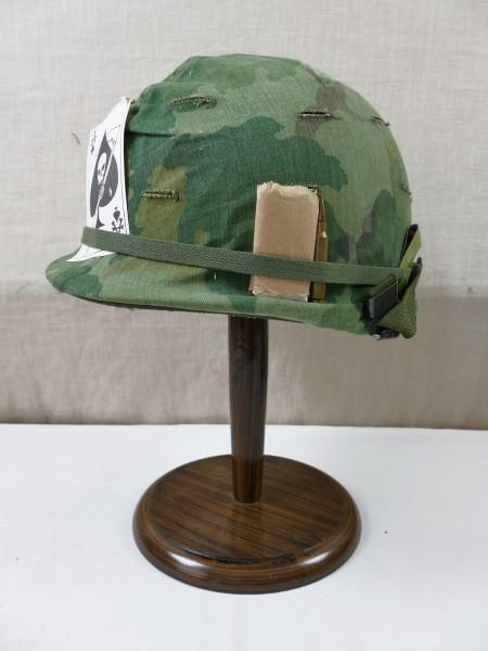 US Army M1 Stahlhelm mit Liner und Twill Mitchell Pattern Helmbezug Vietnam