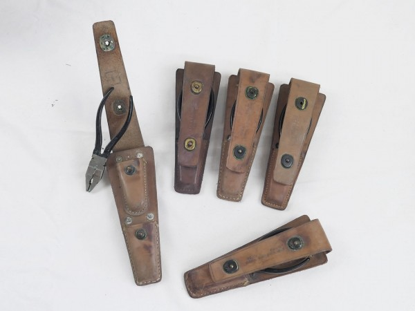 Signal Corps Tool Equipment CS-34 tongs + leather pouch / Zange + Tasche