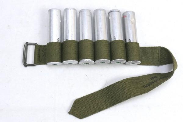 WW2 Luftwaffe Beingurt mit Signalmunition SigPi / LW Flare cartridge Bandolier Rbnr.