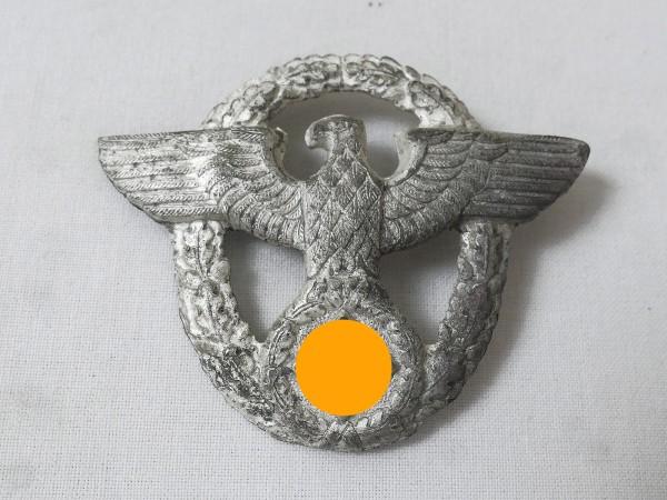 Wehrmacht Polizei Mützenabzeichen an 2 Splinten