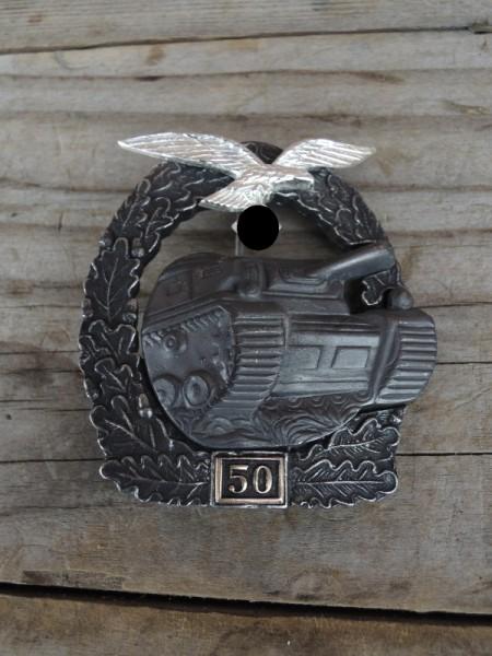 """Panzerkampfabzeichen """"bronze"""" mit Einsatzzahl 50 Luftwaffe"""