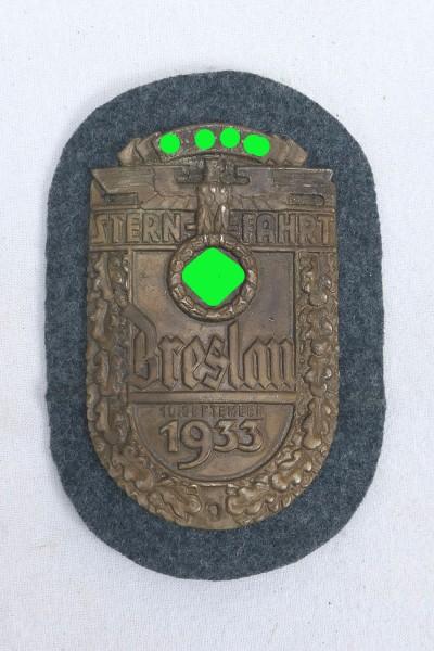 Ärmelschild NSKK Sternfahrt Breslau 1933