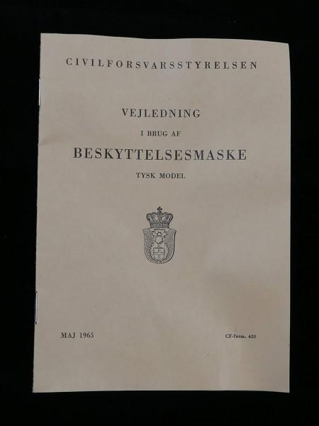 Manual dänisches Benutzer - Handbuch für die Handhabung der Gasmaske der Wehrmacht 1965