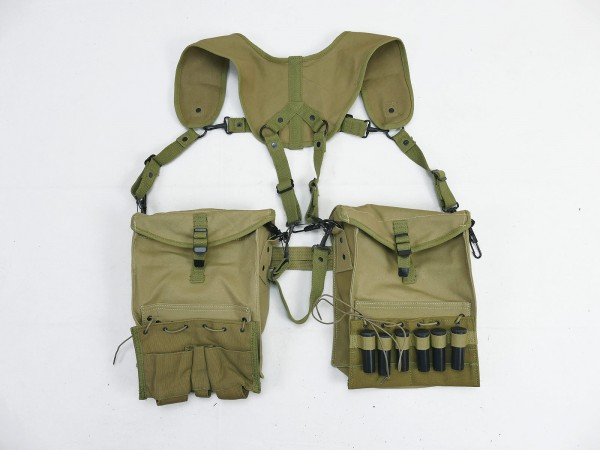 US WK2 MEDIC Suspenders System Harness Tragegestell Rot Kreuz Sanitäter mit Taschen