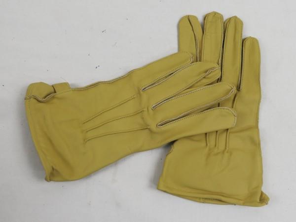 US WW2 Leather Gloves Paratrooper Fallschirmjäger Leder Handschuhe sandfarben