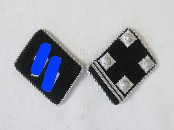 Waffen Elite Kragenspiegel / Obersturmbannführer Oberstleutnant , Paar