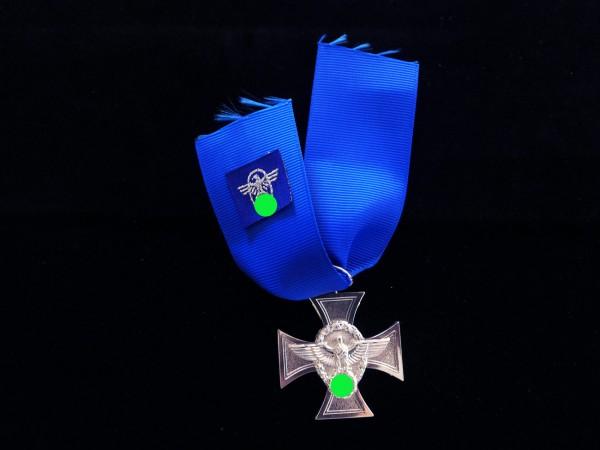 Polizei Dienstauszeichnung Stufe Silber am Band , mit Bandadler