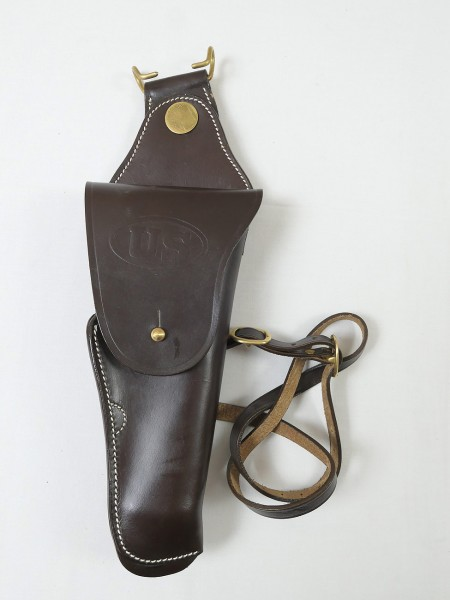 US M1912 Leather Swivel Cavalry Holster Colt 1911 Government Lederholster 45er