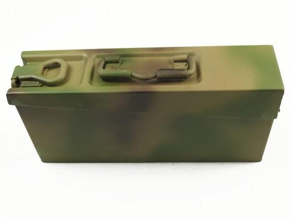 Typ Wehrmacht MG34 MG42 MG53 Patronenkasten Munitionskiste Gurtkasten Camouflage 3-Farbtarn