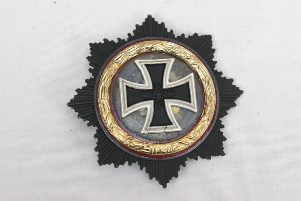 Deutsches Kreuz in Gold 1957er Variante mit Hersteller