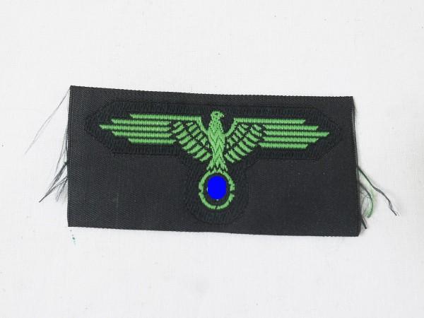 WSS Elite Effekten Mützenadler gewebt grün für Tarn Feldmütze / Tarnmütze Frühjahr