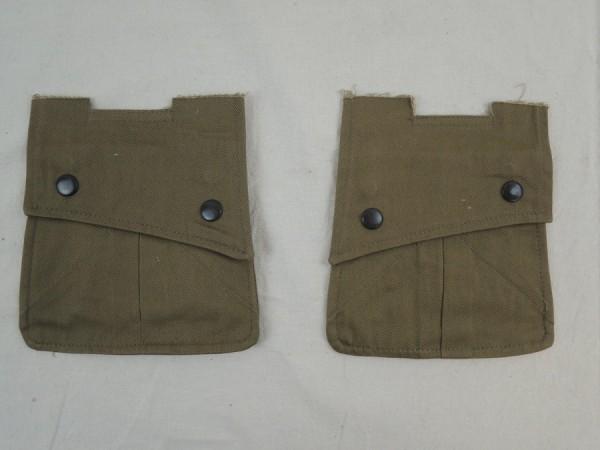 US WW2 2x Tasche für Feldjacke / PARA ARM POCKETS -small- POUCHES M42 Jacket