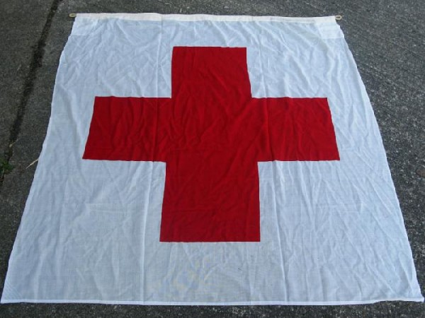 US Army Red Cross Flag Flagge Fahne Rot-Kreuz 150x150cm