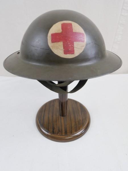 Typ WW2 Britischer / Belgischer Sanitäter Tellerhelm Stahlhelm MEDIC RED CROSS #2