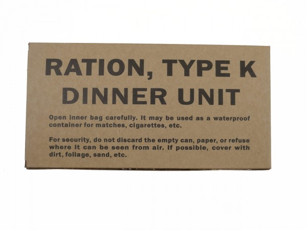 US ARMY WW2 Rations Type K Dinner Unit / Rationen Box Karton Verpflegung