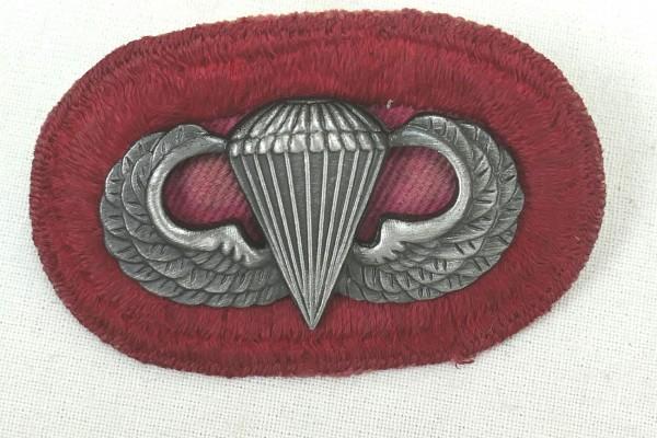 #06 US Airborne Jump Wing oval - Parachute badge Fallschirmjäger Abzeichen Springerabzeichen