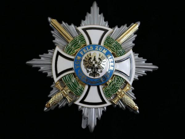Königlicher Hausorden von Hohenzollern / Bruststern der Komture mit Schwertern