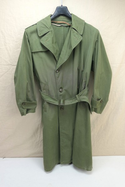 Original US Army 1960's Vietnam era trenchcoat olive drab