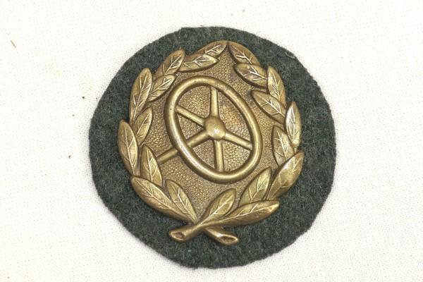 Wehrmacht Abzeichen Kraftfahrbewährungsabzeichen 3. Stufe Gold