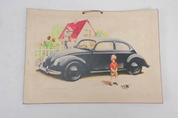 Wehrmacht Vintage Schild Plakat Karton - KDF Wagen - Der Innenlenker