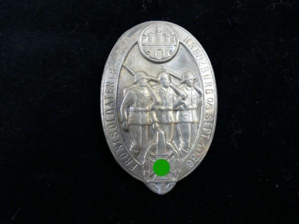 Blechabzeichen Frontsoldatentreffen Kreuzburg September 1936 Tagungsabzeichen