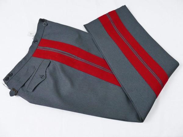 Uniformhose Diensthose General steingrau mit roter Biese Schneideranfertigung