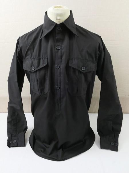 Uniformhemd Panzerhemd Langarm Hemd schwarz Gr. L