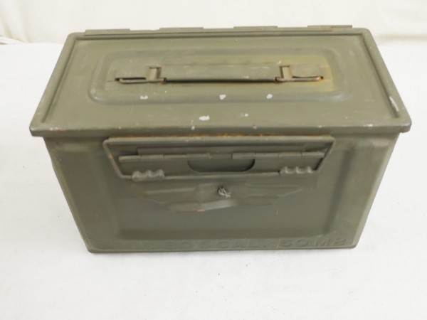 US Army WW2 Ammo Box Cal. 50 M2 Munitionskiste Munikiste Metall Box Truck Storage