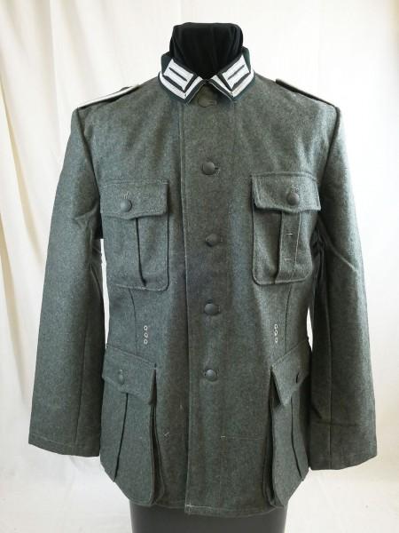 Wehrmacht Feldbluse M36 Feldjacke Uniform feldgrau Unteroffizier mit Litze Kragenspiegeln
