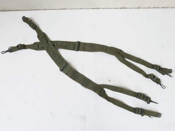 (S4) US Army WW2 M1945 Suspenders / Koppeltragehilfe datiert aus Depot TOP!