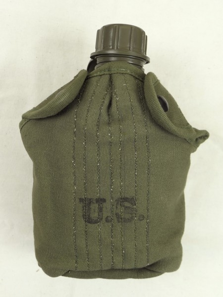 US ARMY WW2 Feldflasche + Feldflaschenbezug cover field canteen