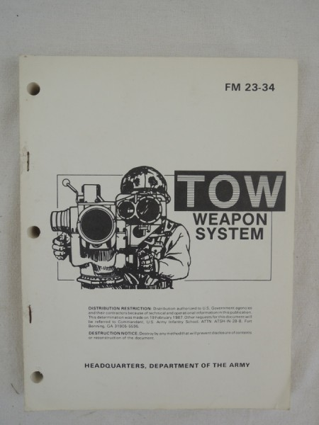US Army FM 23-34 TOW Weapon System