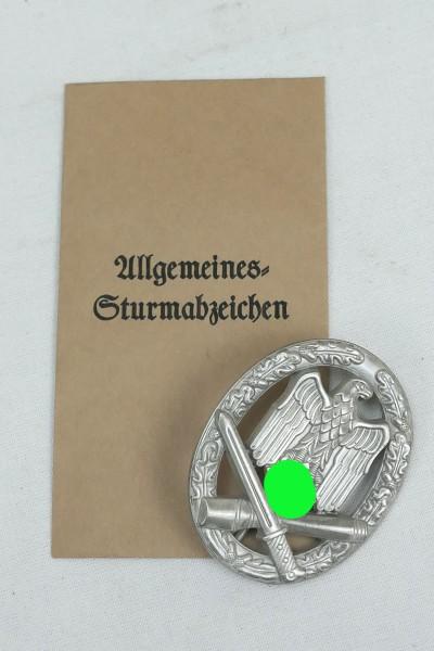 Wehrmacht Allgemeines Sturmabzeichen mit Verleihungstüte