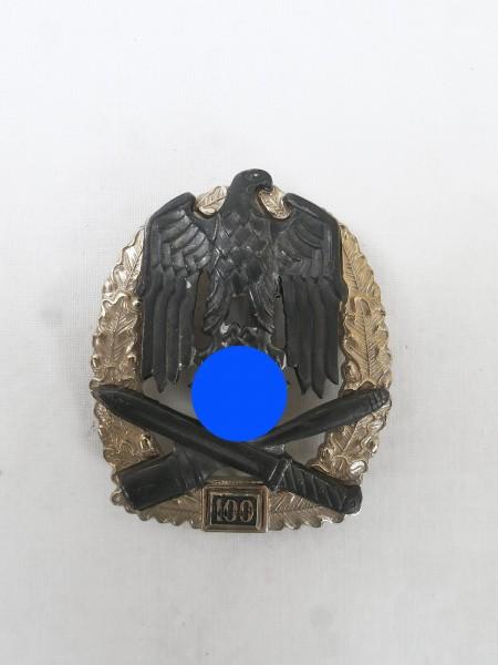 Wehrmacht Allgemeines Sturmabzeichen JFS mit Einsatzzahl 100