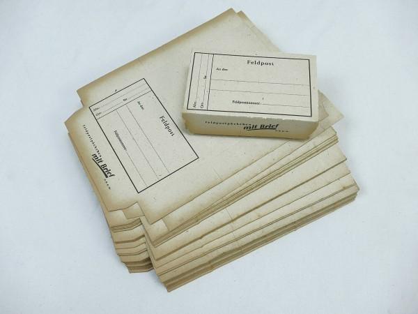 1x Original WW2 Feldpost Päckchen mit Feldpostbrief DRGM Brief Front Heimat